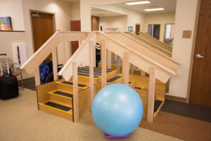equipment in the physical therapy room